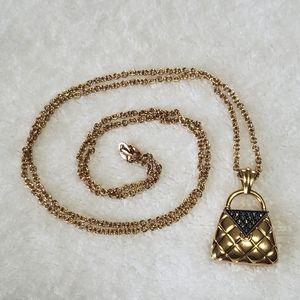 Vintage Costume Necklace w Pendant
